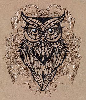 Графика. Совушка-сова. Owl Zentangle Doodle.. Обсуждение на LiveInternet - Российский Сервис Онлайн-Дневников