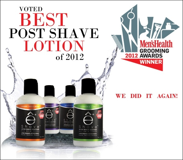 eShave After Shave Soother was voted Best Post Shave Lotion of 2012 by Men's Health Magazine!
