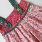 Kumaşla Örgü Kız Çocuk Elbise Modelleri ve Yapılışı 41