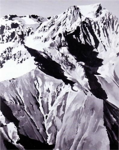 Himalaya - Gerhard Richter Style: New European Painting Genre: figurative painting