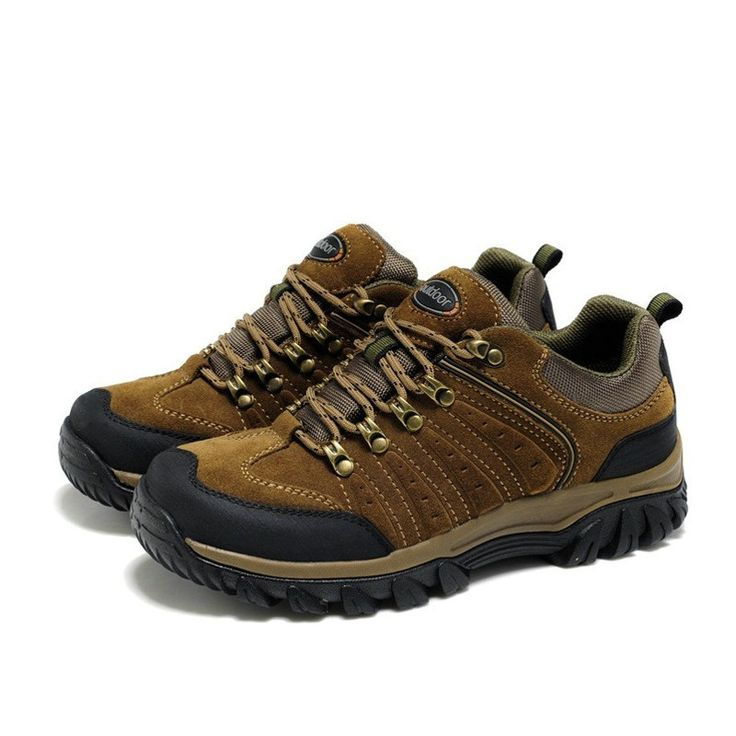 Shoes Men's Hiking Shoes Casual Shoes Outdoor Exercise Sneakers Waterproof Comfort (Color : Khaki Size : 38)