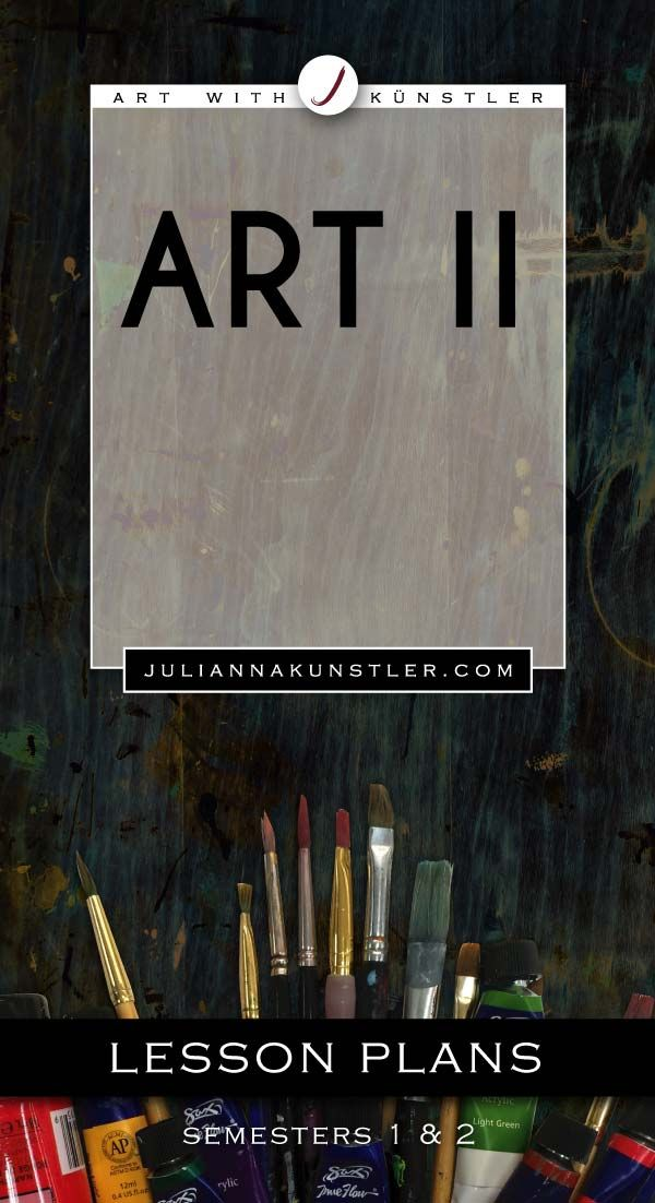 Art 2 course. Lesson plans, presentations, worksheets, handouts, and examples. Designed for high school students.