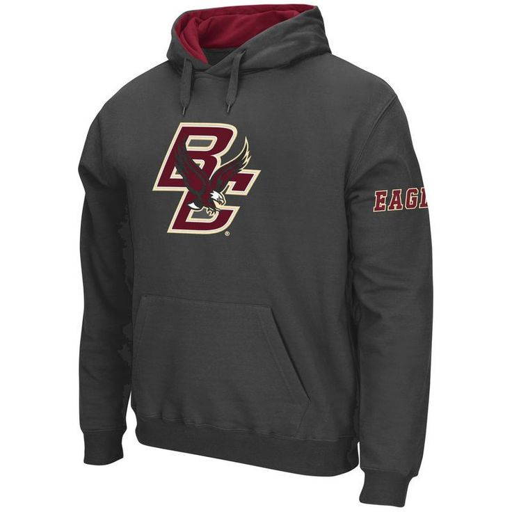Boston College Eagles Stadium Athletic Big Logo Pullover Hoodie - Charcoal