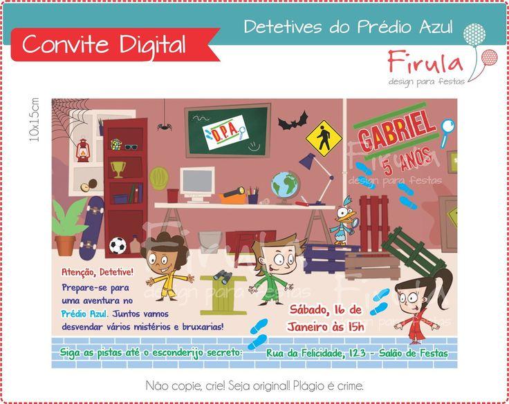 Convite Digital DPA - Detetives do Prédio Azul