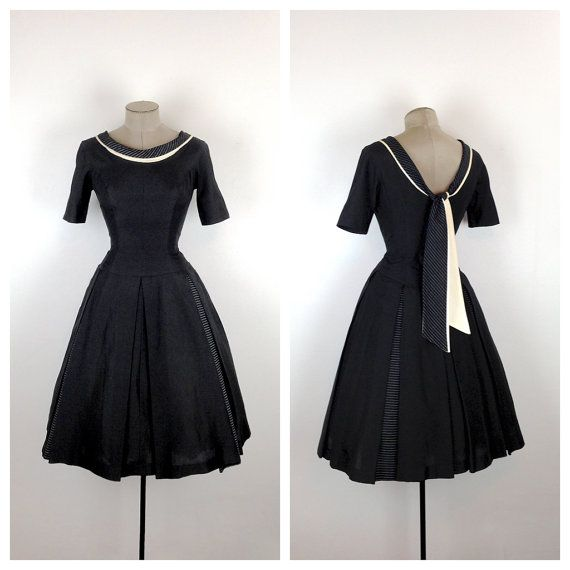 ON LAYAWAY  50s Fit and Flare Sailor Inspired by MotherOfVintage