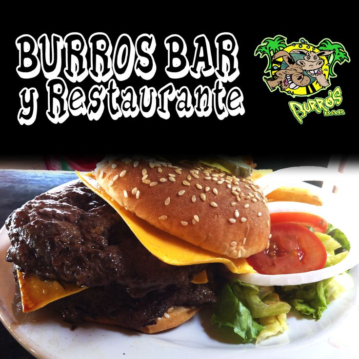 Burros Bar! Listos para la comida? Que tal esta rica Doble Hamburguesa con queso y Papas? en Burros Bar y Restaurante!! Ready for lunch? How about this delicious Double Cheeseburger? at  Burros Bar and Restaurant!!  #bar #restaurant #lunch #cheeseburger #hamburger #beach #burrosbar #puertovallarta