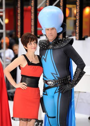 Will Ferrell and Tina Fey dressed as Megamind characters!!