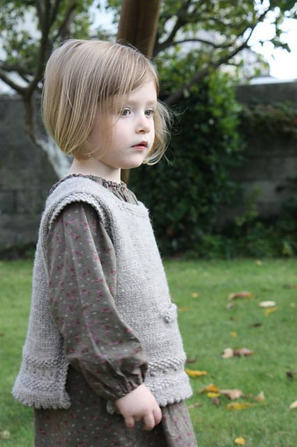 knitted pinafore pattern. 2-12 years