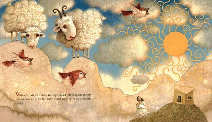 "Matthew Trueman illustration for ""Noah's Mittens""."