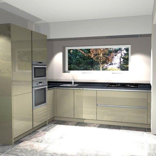 25 beste idee n over kleine witte keukens op pinterest metro tegel keuken kleine keukens en - Kleine hoekkeuken ...