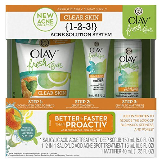 Thoughts on how Olay Fresh Effects Clear Skin 1-2-3! Acne Solution System helps with my skin issues Click on the image to see the clip. And don't forget to buy these products: Olay Fresh Effe…