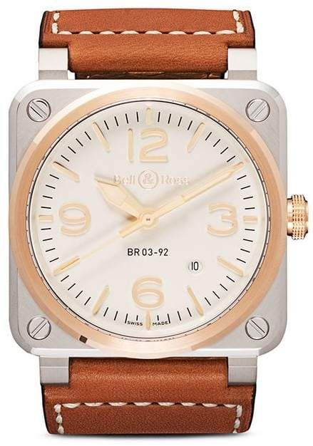 Bell Ross Br03 92 Steel And Rose Gold 42mm Bell Ross Gold Rose Gold