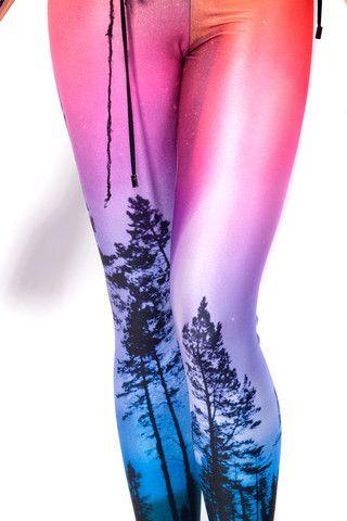 Aurora Skye Neon Purple Leggings