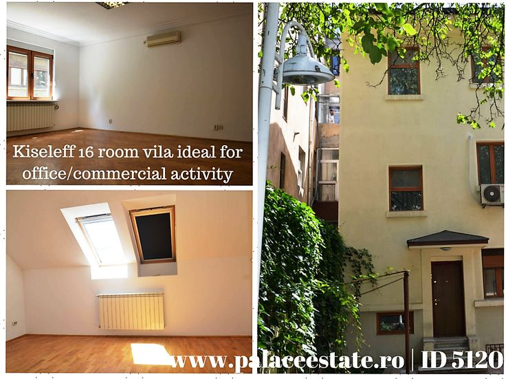 We recommend you for rent a superb 16 room villa ideal for offices or any other commercial activities. Is suitable for offices, medical clinic, restaurant.  Recently consolidated.  A beautiful property in an ideal location is waiting for your company! www.palaceestate.ro | ID 5120