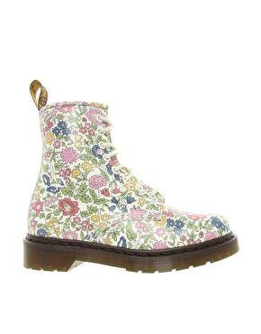 Dr Martens Liberty London Floral Print 8 Eye Boots