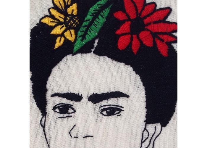 Fernanda Rodz Ilustración: Frida Kahlo | Bordado - Kichink!