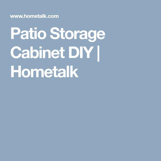 Patio Storage Cabinet DIY | Hometalk