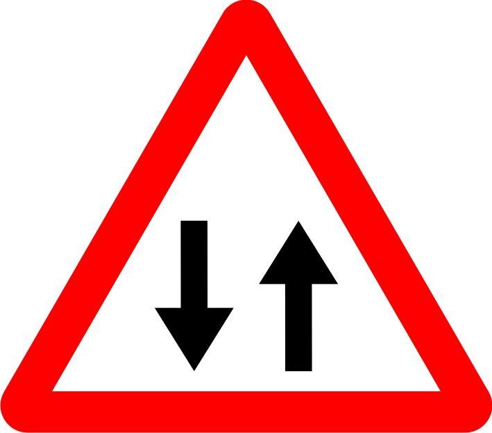 Se al circulaci n en los dos sentidos se alizaci n vial - Medias para la circulacion ...