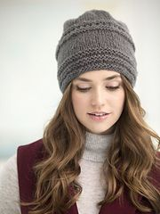 Tivoli Slouch Hat pattern by Lion Brand Yarn