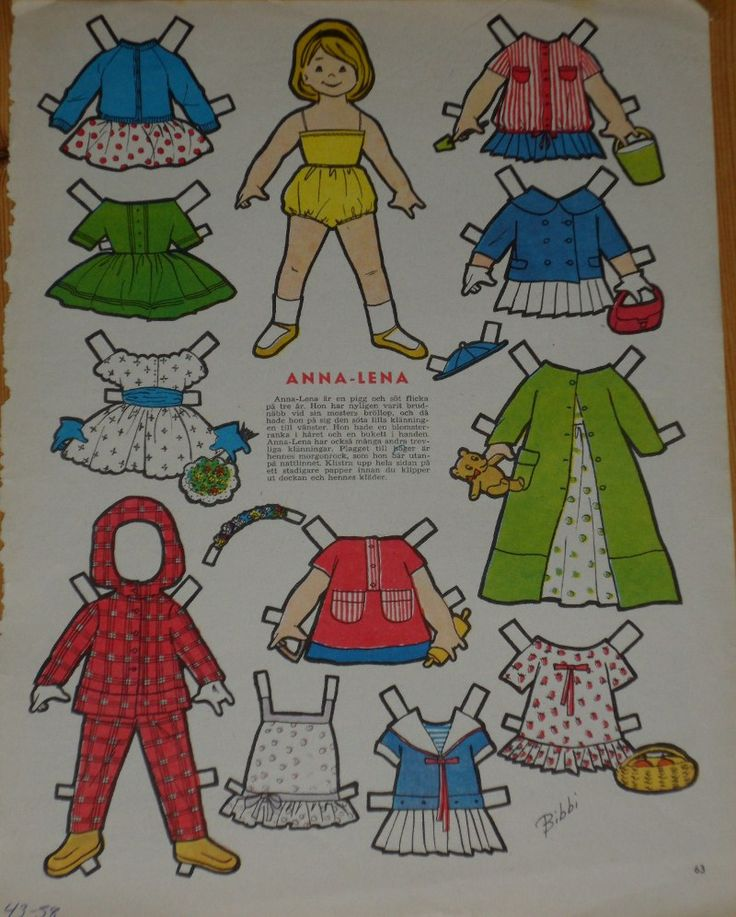 1950-luku /1950-tal | Vivans Pappersdockor / Vivanin paperinuket