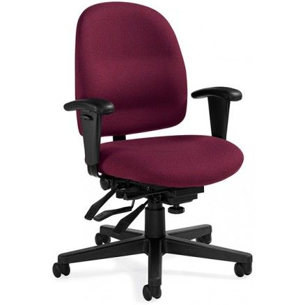 Global Granada 3212 Low Back Chair with Multi-tilter - Silhouette - Claret SL32 FREE Shipping in Canada at Ugoburo.ca!