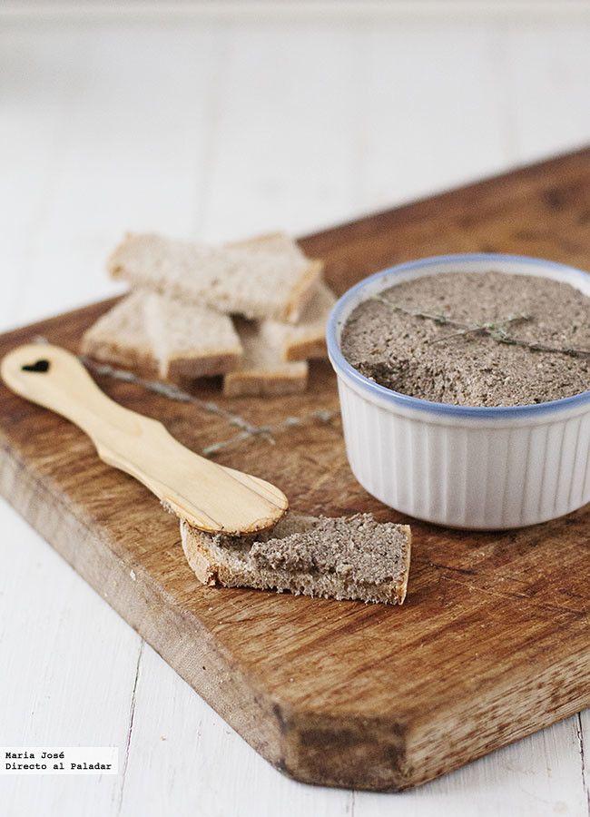 Cómo hacer paté vegano de champiñones y nueces. Receta