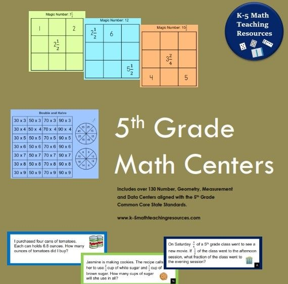 5th Grade Number Activities aligned with the Common Core State Standards