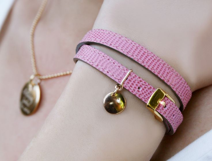 Elegant, colourful, leather and plated-gold.  #lilou #medal #leather #bracelet
