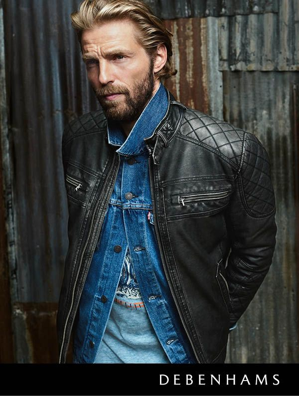 Debenhams Autumn collection 2016. Take to the open road in this season's biker trend. Classic biker style is refreshed with moto-inspired jackets, durable accessories and distressed denim. Match different fabric textures for an effortlessly edgy look.
