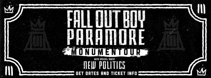 Monumentour Fall Out Boy and Paramore Tickets - Monumentour Fall Out Boy and Paramore Tour Friday, July 25, 2014 West Palm Beach, Florida