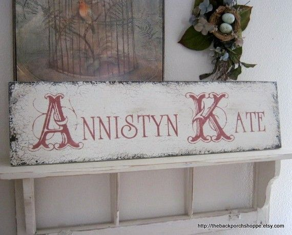 CUSTOM NAME Shabby Custom Signs for Nursery by thebackporchshoppe, $59.95