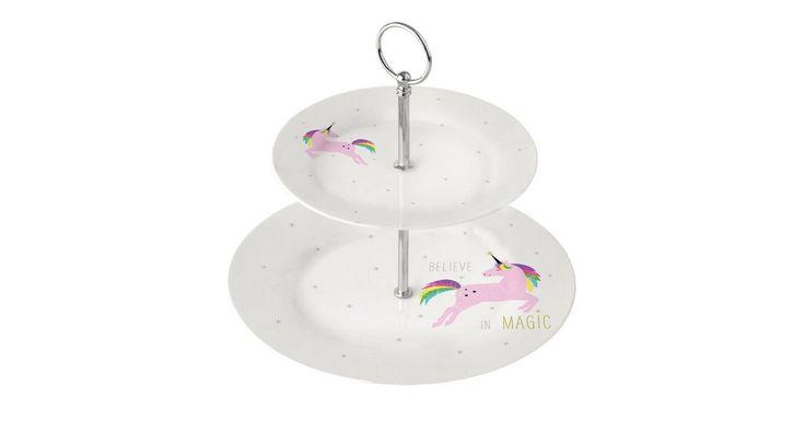 Etagere »White Unicorn Pink 2-stufig«, Porzellan