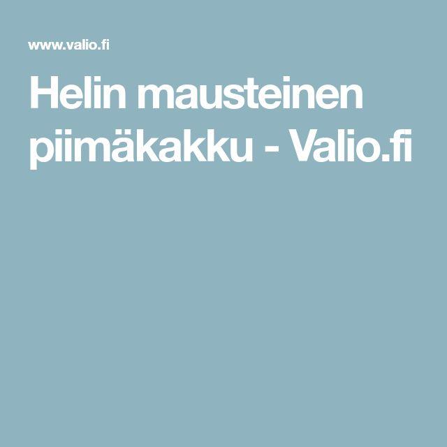 Helin mausteinen piimäkakku - Valio.fi