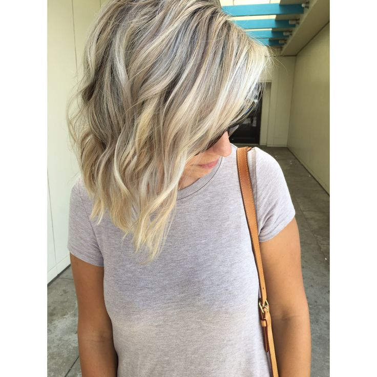 Cool blonde partial highlight