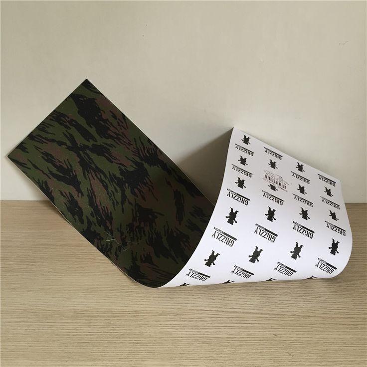 Nouveau Style Dessin de Camouflage Ours Skate Grip Dur-Portant Crizzly Planche À Roulettes Papier de Verre pour Rue Planche À Roulettes Pont
