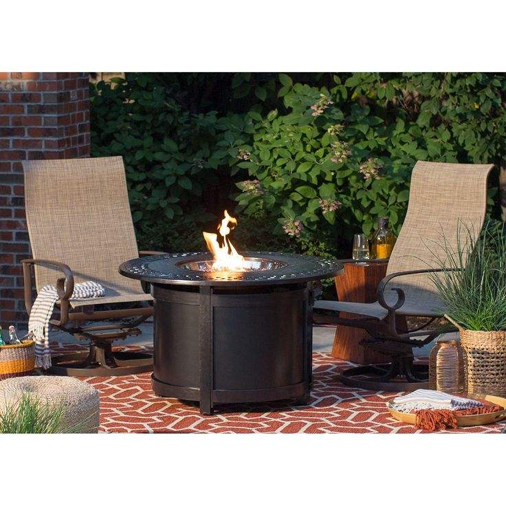 Napoleon Victorian Round Patioflame Gas Fire Pit Table | from hayneedle.com