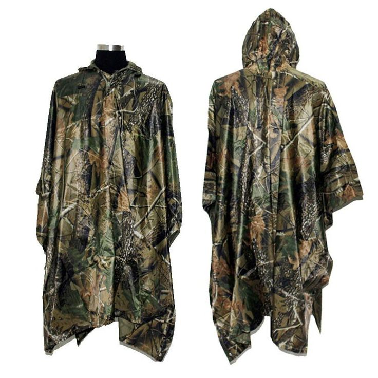 Amazon.com : LOOGU Military Multifunction Realtree Camouflage Waterproof Rain Poncho for Adults : Sports & Outdoors