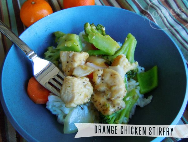 Orange Chicken Stirfry | OAMC from Once A Month Mom