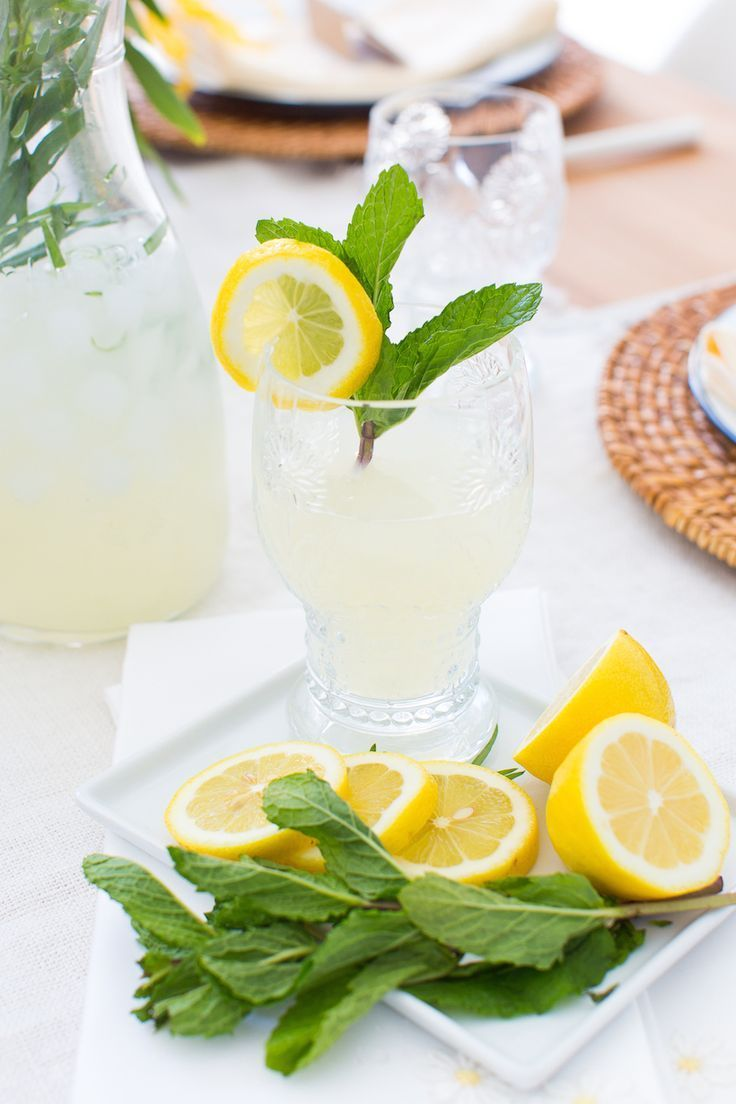 Get inspired to celebrate Spring with this herb infused lemonade & other ideas from this Spring brunch.