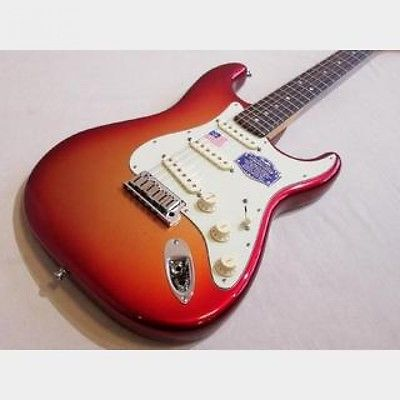 Fender American Deluxe Stratocaster Sunset Metallic guitar FROM JAPAN/512