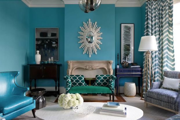 Dark Teal Green And Navy Accents Loveliest Living