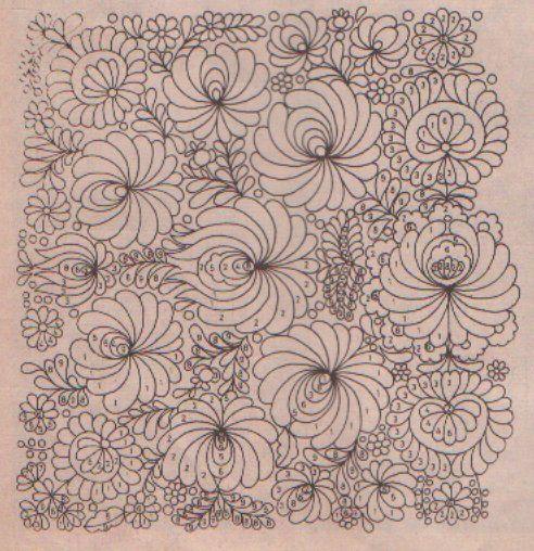 Matyo embroidery motif