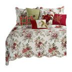 Jardin Rouge Standard Sham - Traditional - Pillowcases And Shams - by C & F Enterprises