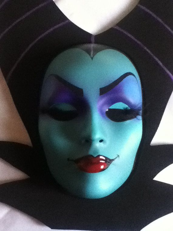 Absolutely Gorgeous Maleficent Mask,...HandMade/ Painted- Disney inspired on Etsy, $60.00