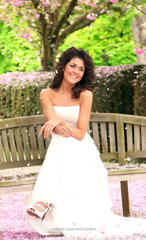 Beautiful bride Abbie spring wedding blossom