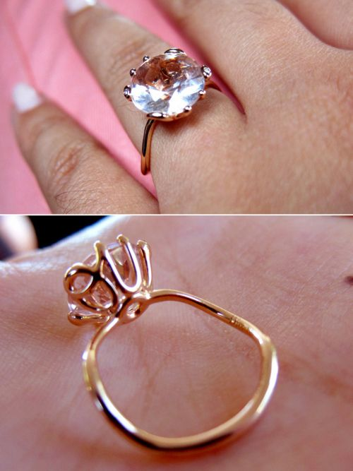 "So pretty and unique! ''Dior ""oui"" pink diamond engagement ring. so simple but so gorgeous''"