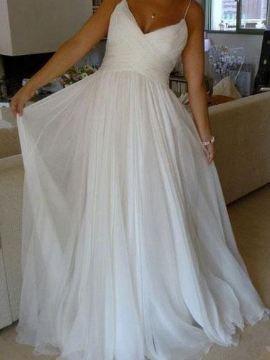 9b5c633af4f Spaghetti Straps A-line Cheap Simple Wedding Dresses Online