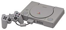 The PlayStation (プレイステーション Pureisutēshon?, officially abbreviated PS) is a series of video game consoles created and developed by Sony Computer Entertainment. Spanning the fifth, sixth, seventh, and eighth generations of video gaming, the brand was first introduced on December 3, 1994 in Japan.[1] The brand consists of a total of three home consoles, a media center, an online service, a line of controllers, two handhelds and a phone, as well as multiple magazines.