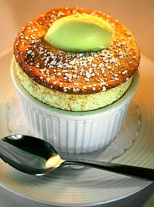 Gordon Ramsay's Pineapple soufflé with Thai curry ice cream  Courtesy of Gordon Ramsay of the London in West Hollywood.