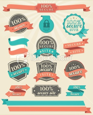 Badges and Ribbons Royalty Free Stock Vector Art Illustration
